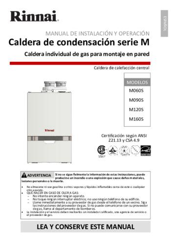M090cn Boiler Rinnai
